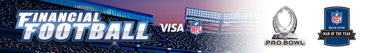 Visa's Financial Football Alumni Players On and Off the Field banner